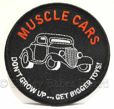 Embroidered Iron Or Sew On Patch For Hot Rodders, Car Enthusiast ~ Muscle Cars ~