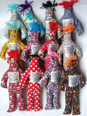 """2pc NEW Random Pattern Color Stress Relief 12"""" Dammit Doll Plush toy doll"""