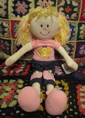 "** ""SARAH""  42cm RAG DOLL in Pink clothes **"