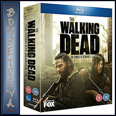 The Walking Dead - Complete Seasons 1 2 3 4 & 5  **Brand New Blu-Ray Boxset **