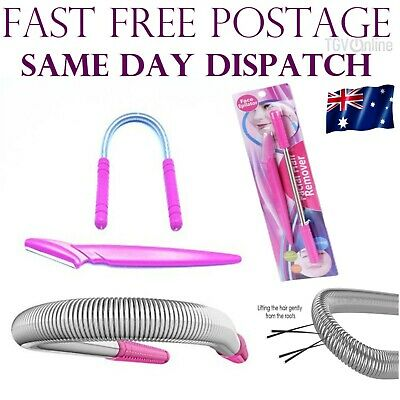 Threading Epistick + Razor Facial Hair Remover Removal Stick DIY Epilator PINK
