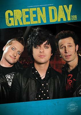 Green Day Large Wall Calendar 2016 New And Factory Sealed Sale !! Sale !!