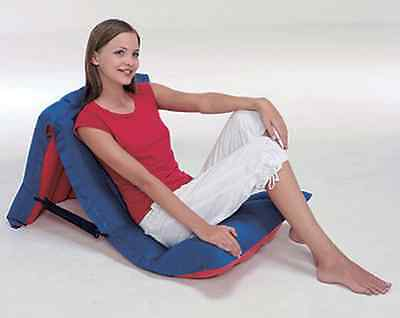 2-In-1 Adjustable Camping Chair Single Air Bed Inflatable Seat Airbed