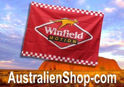 WINFIELD Racing Flag - Fahne / Flagge  Winfield Logo & Känguru - Australien Shop