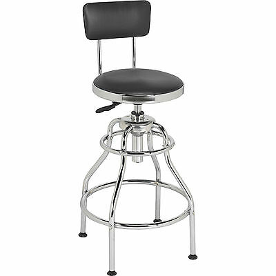 Sealey Pneumatic Workshop Stool with Swivel Seat & Back Rest