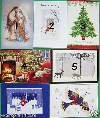 Set of 4 Christmas Greeting Cards With Envelopes Assorted Designs Holiday Friend
