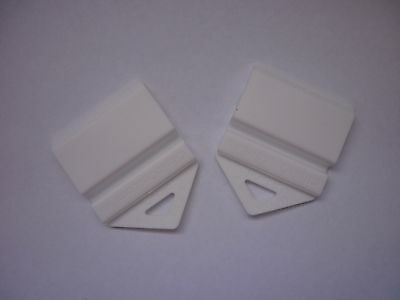 2 L and P Plate Holders Clip It On car number plate White in colour