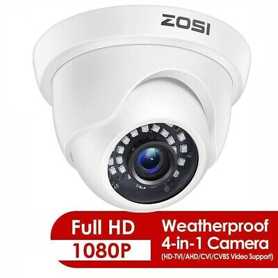 ZOSI 8CH 720P TVI DVR 1500TVL Outdoor IR Dome CCTV Security Camera System 1TB