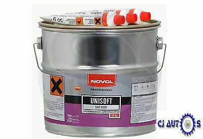 Novol Unisoft 6Kg Body Filler Easy Sand Polyester Hardener Car Filler Body Paint