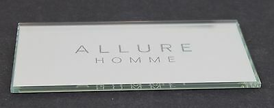 Vintage Advertisement Mirror Counter Display Allure Homme Cologne Men's Channel