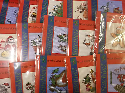 Mouseloft Christmas Stitchlets Cross Stitch Kit - with card & envelope - various