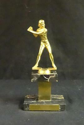 Beautiful 1953/54 vintage softball figural marble trophy! Women's! Beautiful!