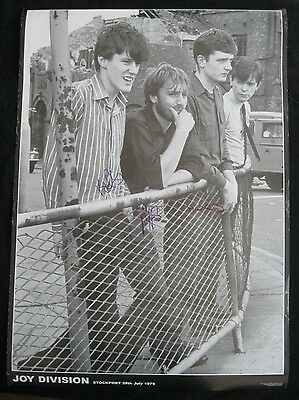 Joy Division Band Signed 25X35 Poster Autograph Signed By All 3!! Psa/Dna Loa
