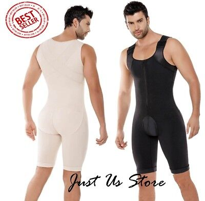 CYSM Fajas Colombianas Para Hombre Men's Full Body Shaper with back Support #298