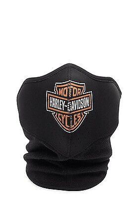 Harley Davidson Bar and Shield Neoprene Face Mask Black Large