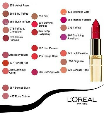 Loreal Color Riche Lipsticks Various Shades