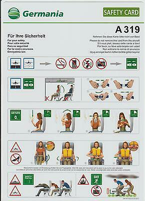 Safetycard Germania A319, Issue 00 (02.2011)