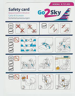 Safetycard Go2Sky BOEING B737-400, 1st Issue 06MAY2013; Poland