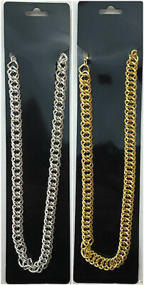 BIG NECKLACE 50cm Pimp Costume Party Fancy Dress Gangster Chain Jewellery New