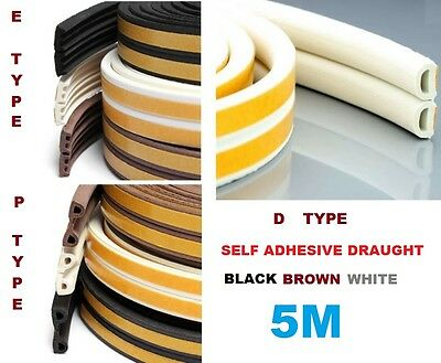 Wind & Dustproof Self Adhesive EPD Type Window Door Draught Draft Excluder Strip