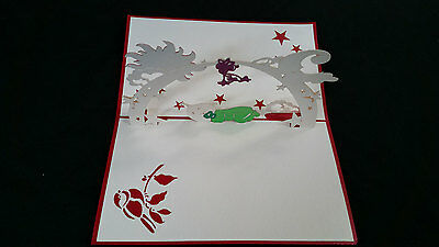 New Baby / Baby Shower - Neutral colour Handmade 3D pop up greeting / gift card