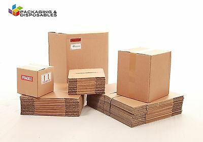 """15 x Strong Double Wall Cardboard Boxes 15"""" x 10"""" x 10"""""""