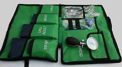 Blood Pressure Kit 5 Cuffs included! Paramedic Bag (G) Thigh, Large Adult, Child