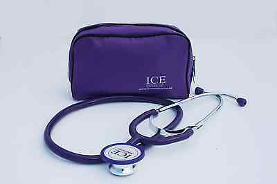 ICE Medical Purple Dual Head Stethoscope With Purple Bag - Student, Nurse, Vets
