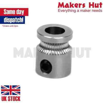 MK8 Drive Gear – Stainless Steel Extruder 5mm Shaft 3D Printer Reprap 1.75mm 3mm