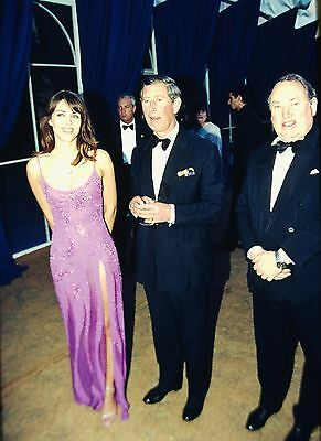 LIZ HURLEY & PRINCE CHARLES - Original 35mm POSITIVE SLIDE 1999