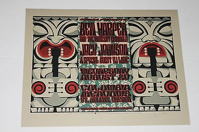 Rare Poster Jack Johnson Ben Harper Dj Logic Oregon Only 190 In The World