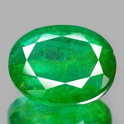 """BIG! 3.25 cts Green Oval Emerald Natural Loose Gemstone """"SEE VIDEO"""""""