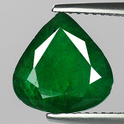 "HUGE! 4.08 cts Green Pear Emerald Natural Loose Gemstone ""SEE VIDEO"""