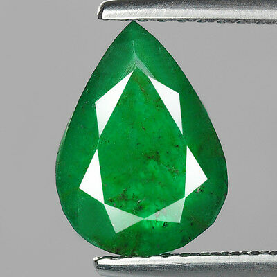 """2.33 cts Green Pear Emerald Natural Loose Gemstone """"SEE VIDEO"""""""