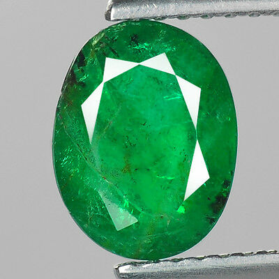 """1.52 cts Green Oval Emerald Natural Loose Gemstone """"SEE VIDEO"""""""