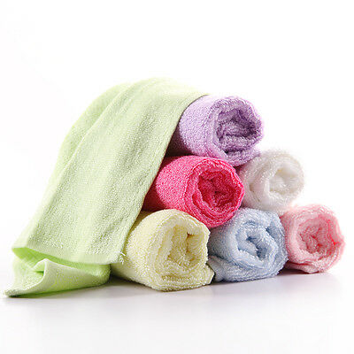 4 pcs 100% Bamboo Baby Infant Face Washers Bath Towels wipes 25×25 cm
