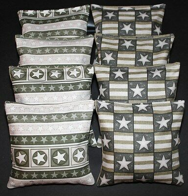 PATRIOTIC Stars USA AMERICAN FLAG Vinatge Rustic 8 ACA Regulation Corn Hole Bags