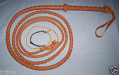 10 ft 4 plait TAN INDIANA JONES Custom Made for SWINGING Bullwhip Rodeo #W51