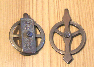 """2 Viena Regulater Clock Pulley in GC for Spare 1.5""""L & 1.75""""L"""