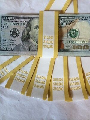 Money Bands For $10,000 Set Of 10 New