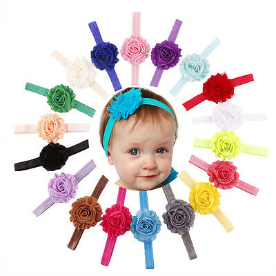 18xBaby Girl Toddler Flower Hairband Soft Elastic Headband Hair Accessories Band