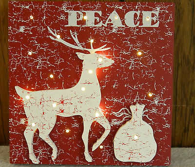 Grasslands Road Lighted Christmas Wall Hanging Decoration - Holiday - Reindeer