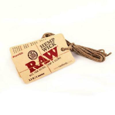 RAW Hemp Wick 1 Metre Pack Made From Natural Beeswax