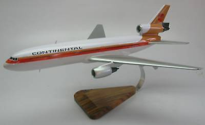 DC-10 Continental Airlines Douglas DC10 Airplane Wood Model Free Shipping Reg