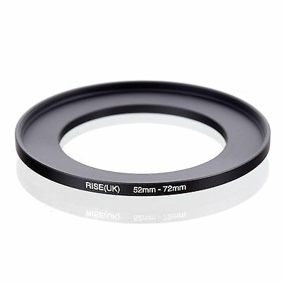 RISE(UK) 52mm-72mm 52-72 mm 52 to 72 Step Up Ring Filter Adapter black