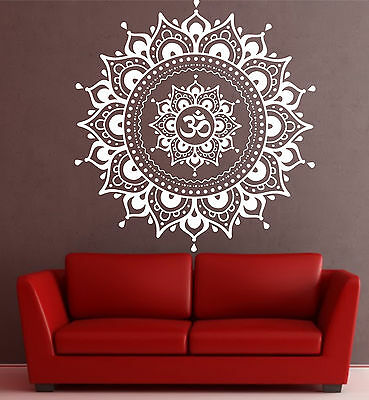 Large Mandala wall decal Eye Indian Buddha Yoga Fatima Mandala Ganesh Lotus
