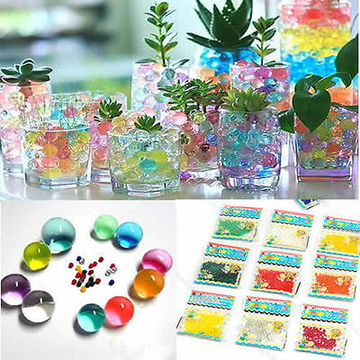 10 X Magic Plant Growing Balls Crystal Mud Soil Water Beads For Flower Gift New