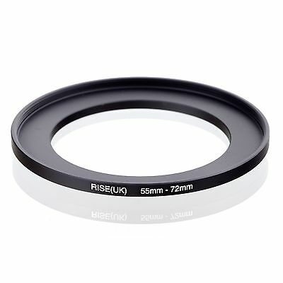 RISE(UK) 55mm-72mm 55-72 mm 55 to 72 Step Up Ring Filter Adapter black