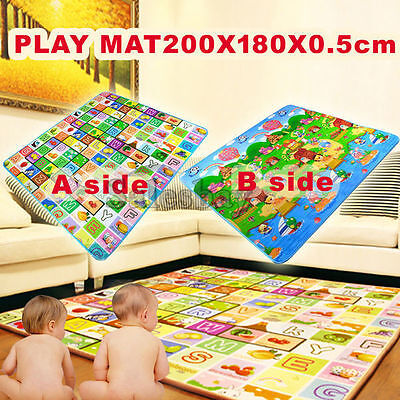5mm 2mx1.8m Thick L Baby Kids Play Mat Floor Rug Picnic Cushion Crawling Mat