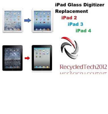 Apple iPad 2 CRACKED GLASS DIGITIZER TOUCH SCREEN REPAIR REPLACEMENT SERVICE